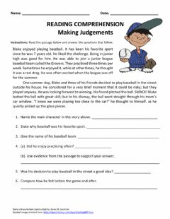 Interactive worksheet Making Judgements