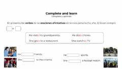 Interactive worksheet Weekly activities. Part 2