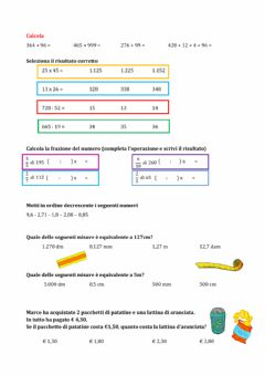 Interactive worksheet Mix d'esercizi