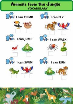 Ficha interactiva What Can Animals Do?