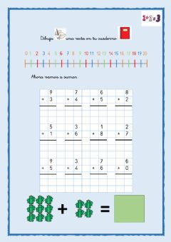 Interactive worksheet Sumas hasta 12