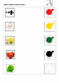 Interactive worksheet Unir por colores