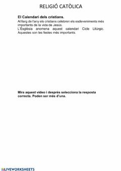 Interactive worksheet Cicle Inicial 7