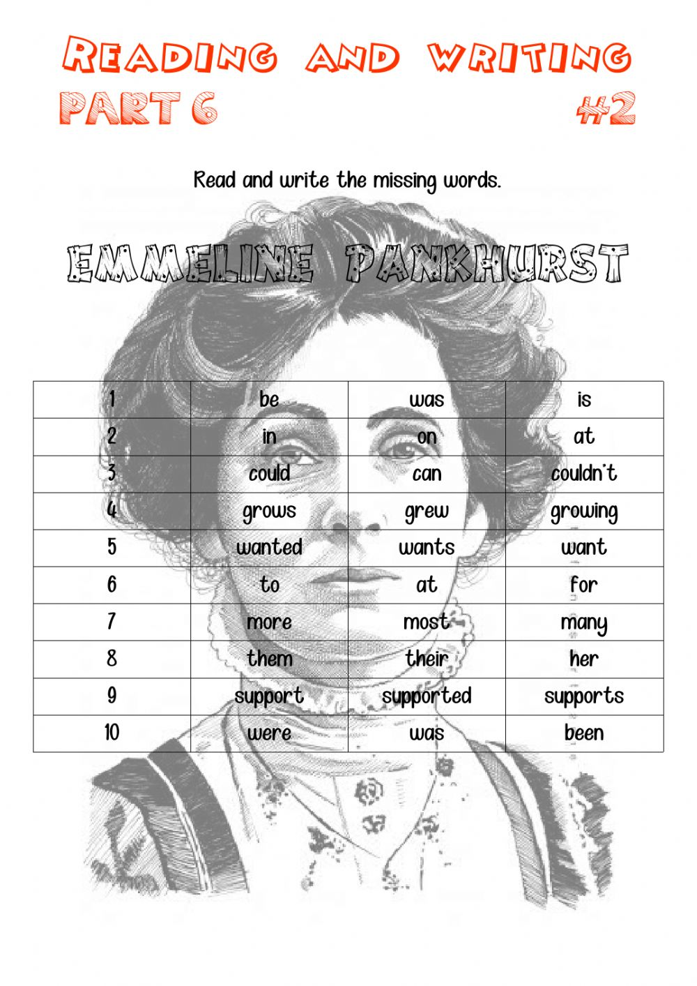 - Reading And Writing 6-02 - Interactive Worksheet