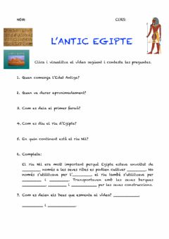 Interactive worksheet L'angic Egipte