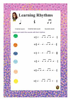 Interactive worksheet Learning Rhythms 2
