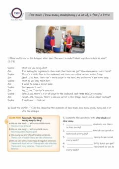 Interactive worksheet Food - How much and How many
