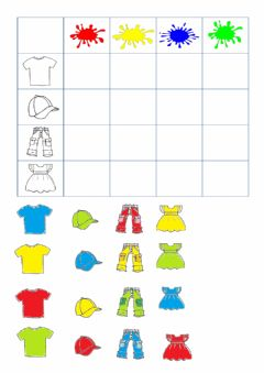 Interactive worksheet Clothes and colors