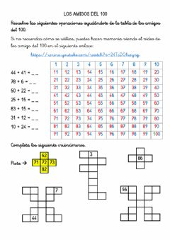 Interactive worksheet Los amigos del 100