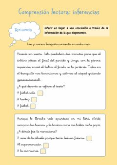 Interactive worksheet Comprensión lectora: inferencias