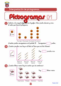 Interactive worksheet Pictogramas 2º Primaria-01