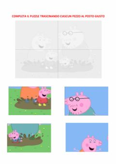 Interactive worksheet Puzzle 4 pezzi peppa pig