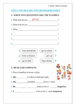 Interactive worksheet Routines revision