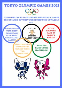 Interactive worksheet Tokyo olympic games
