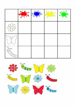Interactive worksheet Spring colors