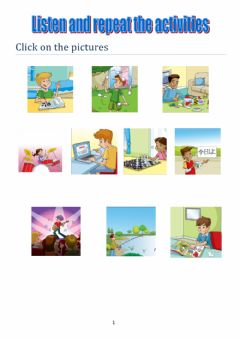 Interactive worksheet Listen and repeat free time activities TIGER 6