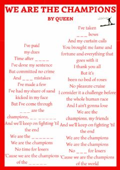 Interactive worksheet Cancion we are the champions