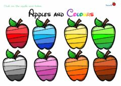 Interactive worksheet Apples and colours