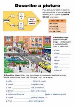 Interactive worksheet Describe a picture