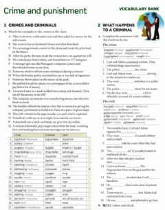 Interactive worksheet Crime and Punishment