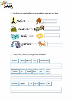 Interactive worksheet Castellano REFUERZO 10.1