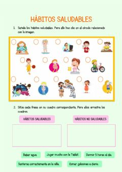 Interactive worksheet Hábitos saludables