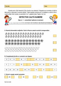 Interactive worksheet Detectivii caută numere - 0-31-nivel 1