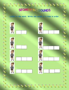 Interactive worksheet Segmenting s a t p sounds