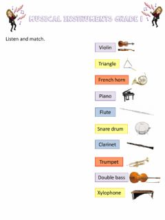 Interactive worksheet Musical instruments Grade 1