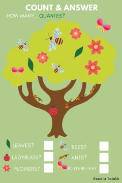 Interactive worksheet Spring time: how many bugs do you see?