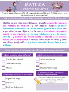 Interactive worksheet Matilda
