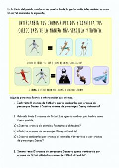 Interactive worksheet Intercambio de cromos