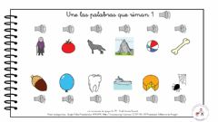 Interactive worksheet Palabras que riman1