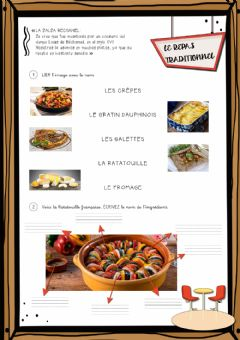 Interactive worksheet Le repas traditionnel