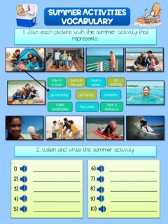 Ficha interactiva Summer activities vocabulary
