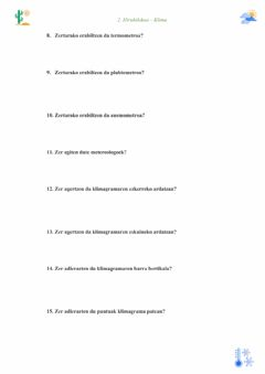 Interactive worksheet Klima 2