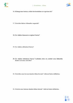 Interactive worksheet Klima 3