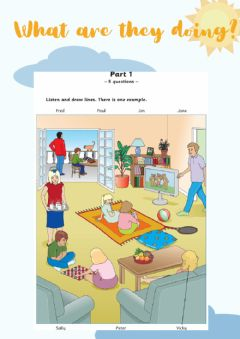 Interactive worksheet MOVERS Listening: What are they doing
