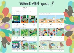 Interactive worksheet MOVERS Listening: What did you...?