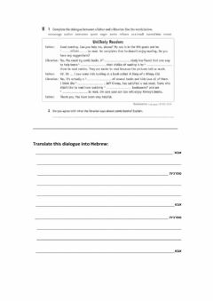 Ficha interactiva Worksheet from Imagine Workbook p 123