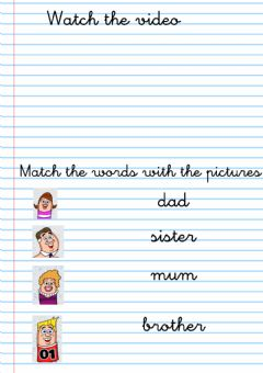 Interactive worksheet Family video