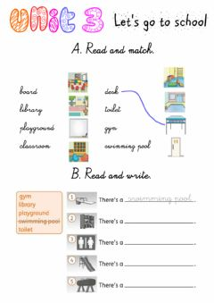 Interactive worksheet Let's go to school! Exercises