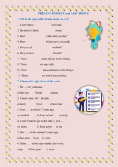 Interactive worksheet Present Perfect or Past Simple