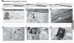 Interactive worksheet Les documents pour vogager