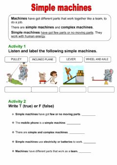Interactive worksheet Simple machines