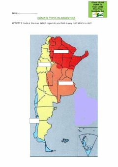 Interactive worksheet Climate types in Argentina