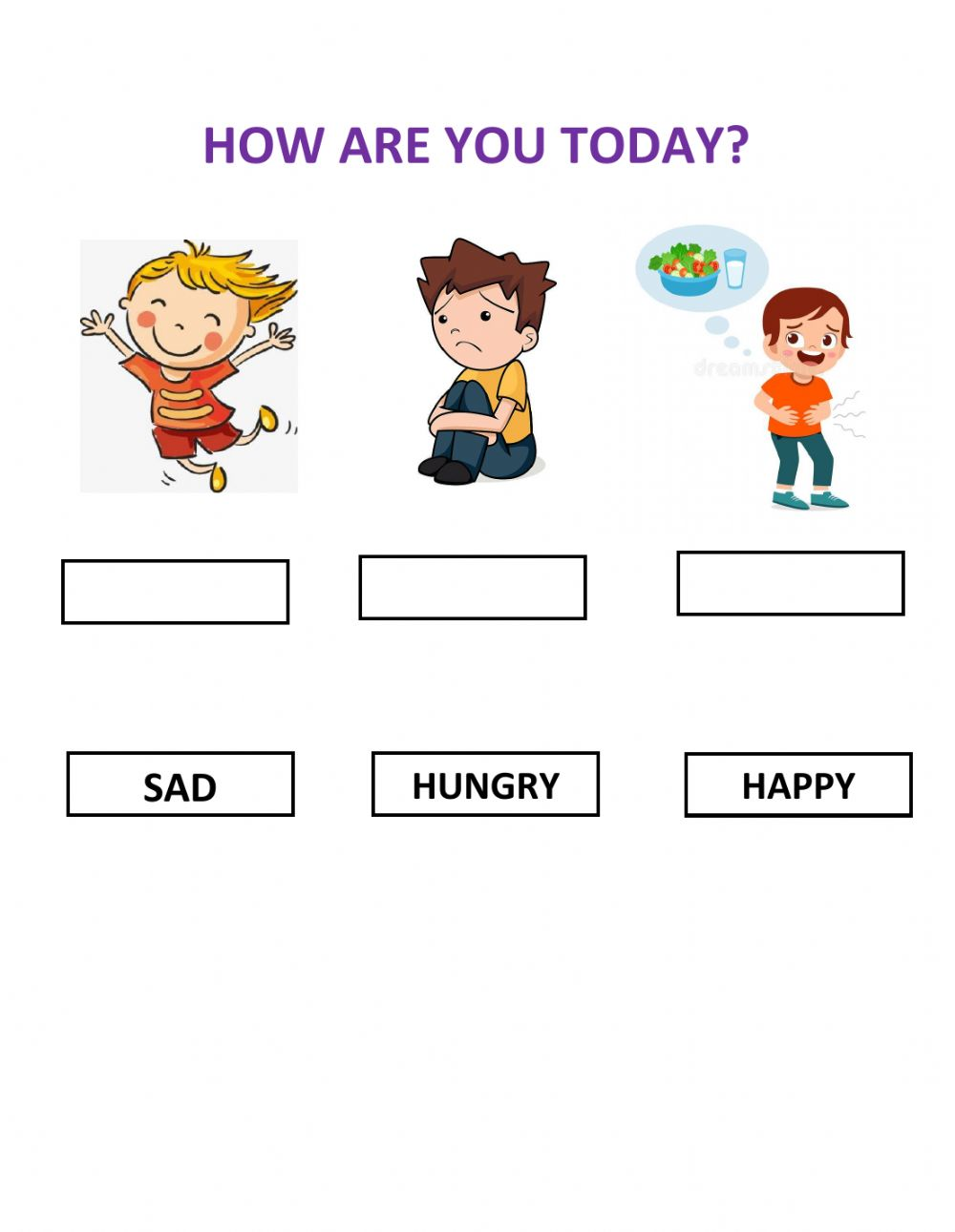 Emotions Online Pdf Exercise For Kinder - View Feelings And Emotions Worksheets For Kindergarten Pdf Images