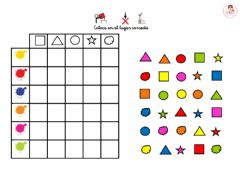 Interactive worksheet Tabla doble entrada colores