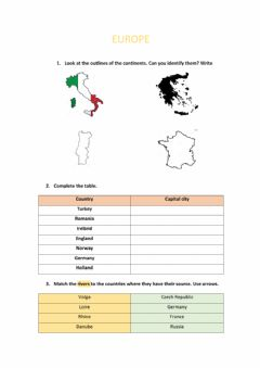 Ficha interactiva Geography of Europe