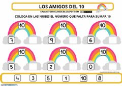 Interactive worksheet Sumas 10 amigos del 10